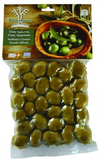 Φυσικές πράσινες ελιές γίγας Άμφισσας